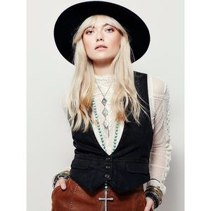 Free People Hip In Hemp Black Vest